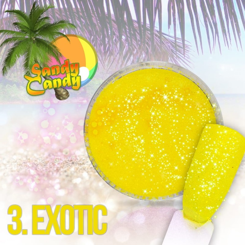 Sclipici cu efect holographic- Sandy Candy Exotic 03